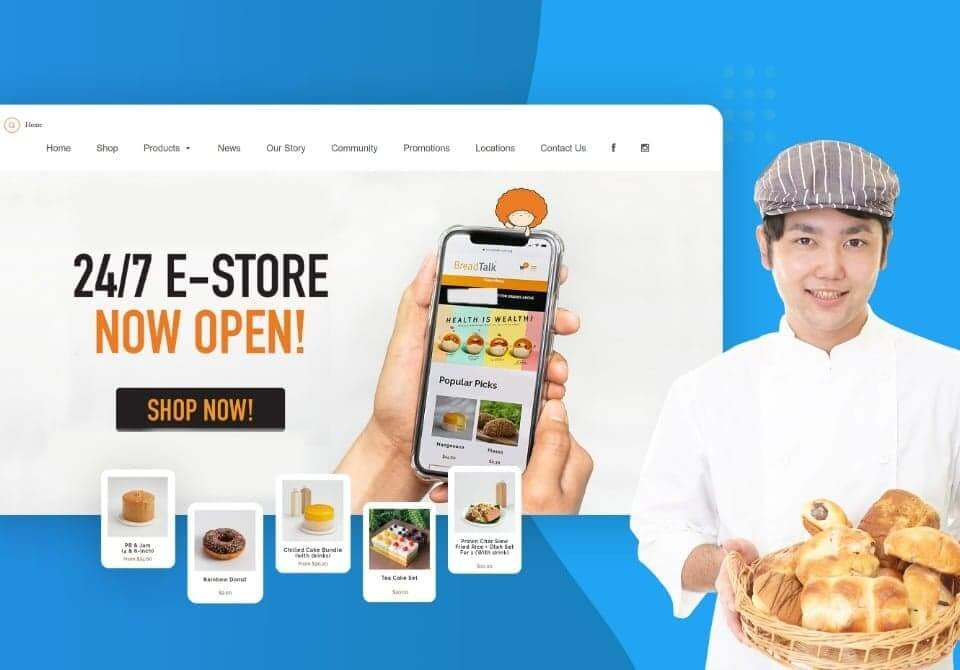 ecommerce bakery website
