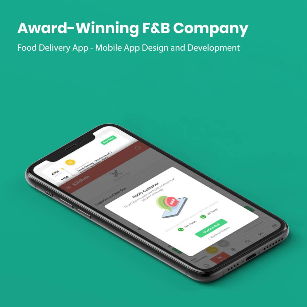 F&B Website Design
