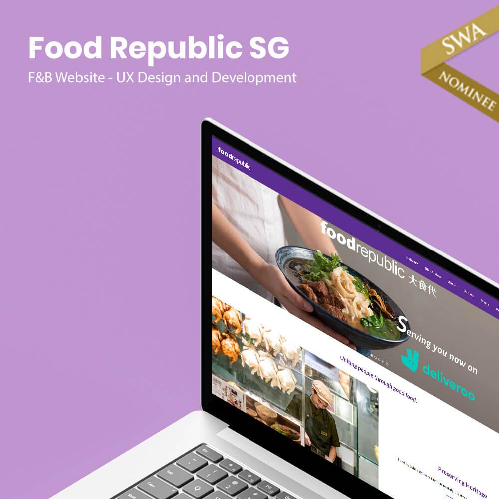 food republic website design