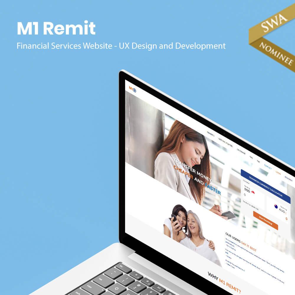 m1 remit website design