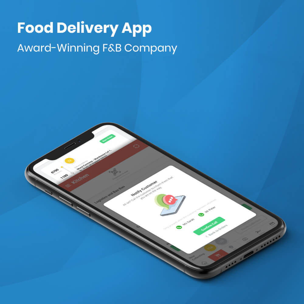 Food delivery mobile app development